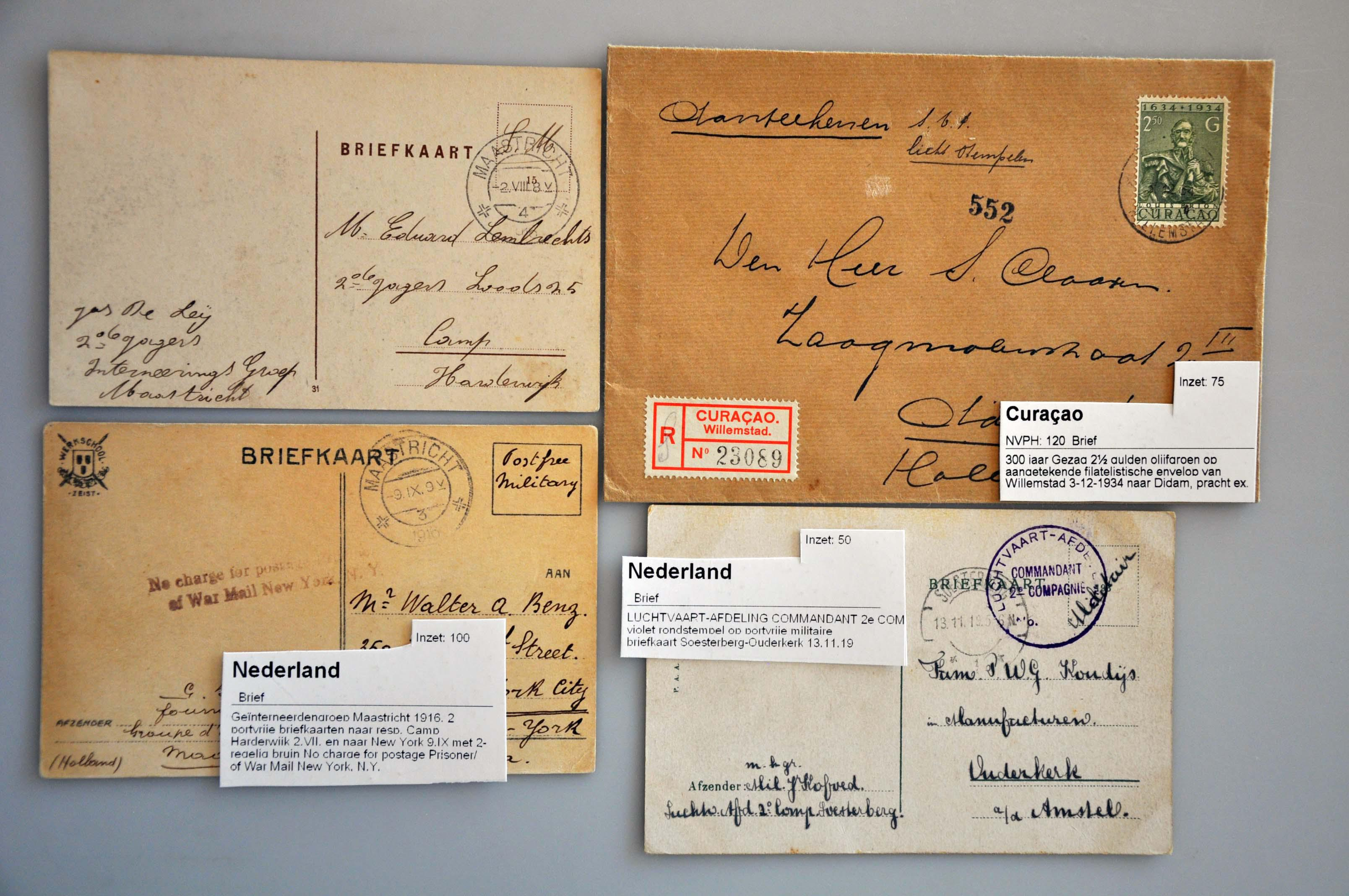 Lot 2786 - Netherlands and former colonies Netherlands and Former Territories -  Corinphila Veilingen Auction 245-246 Day 3 - Netherlands and former colonies - Single lots, Collections and lots, Boxes and literature
