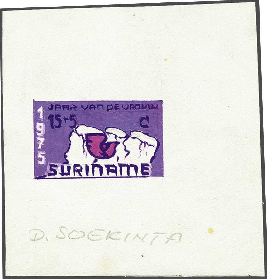 Lot 2176 - Netherlands and former colonies surinam -  Corinphila Veilingen Auction 245-246 Day 3 - Netherlands and former colonies - Single lots, Collections and lots, Boxes and literature
