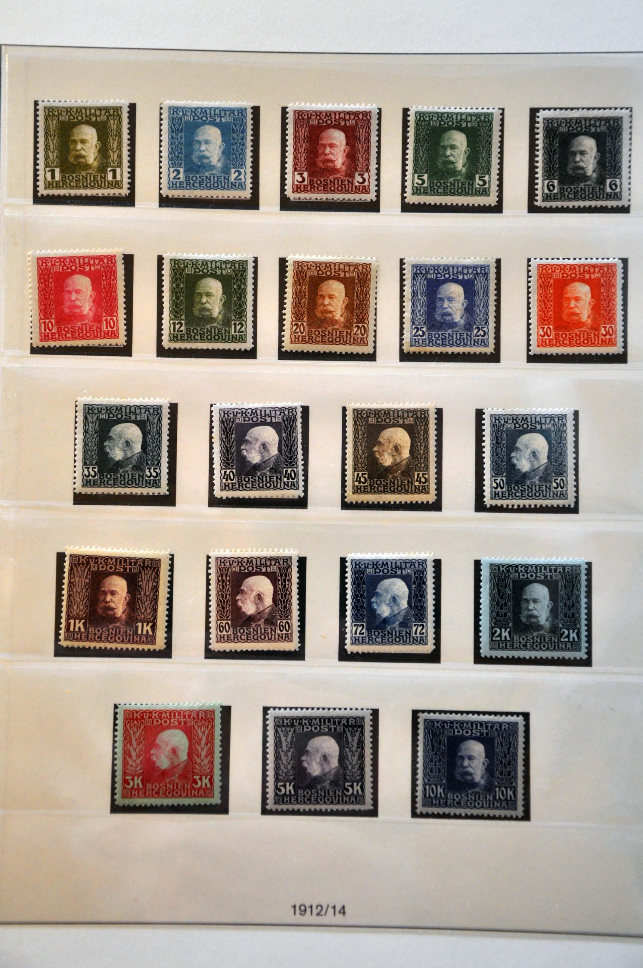 Lot 583 - Austria and former territories Bosnia and Herzegovina (Austrian) -  Corinphila Veilingen Auction 245-246 Day 2 - Foreign countries - Collections and lots, Foreign countries - Boxes and literature