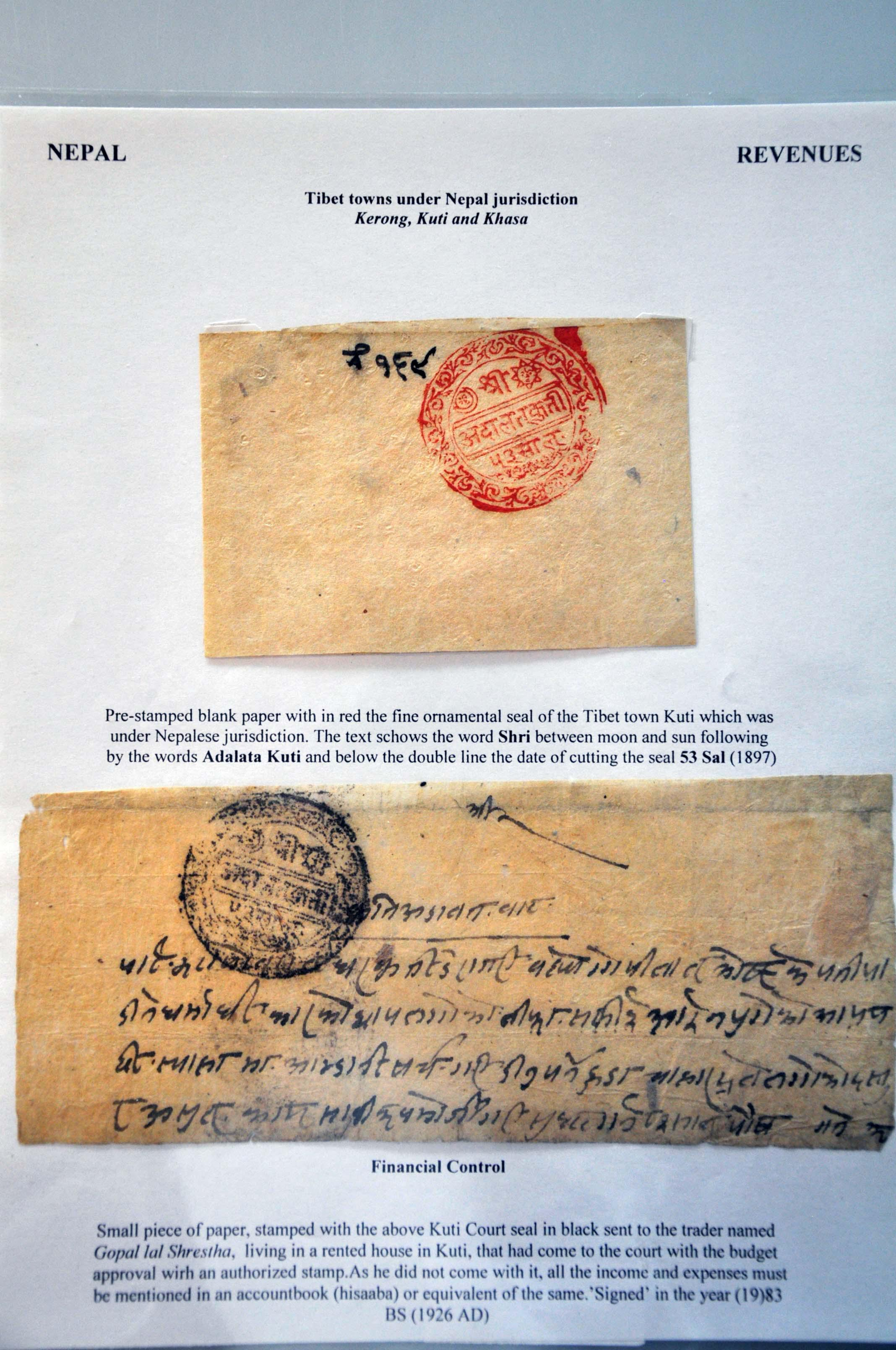Lot 81 - Great Britain and former colonies Nepal -  Corinphila Veilingen Auction 245-246 Day 1 - Nepal - The Dick van der Wateren Collection, Foreign countries - Single lots, Picture postcards