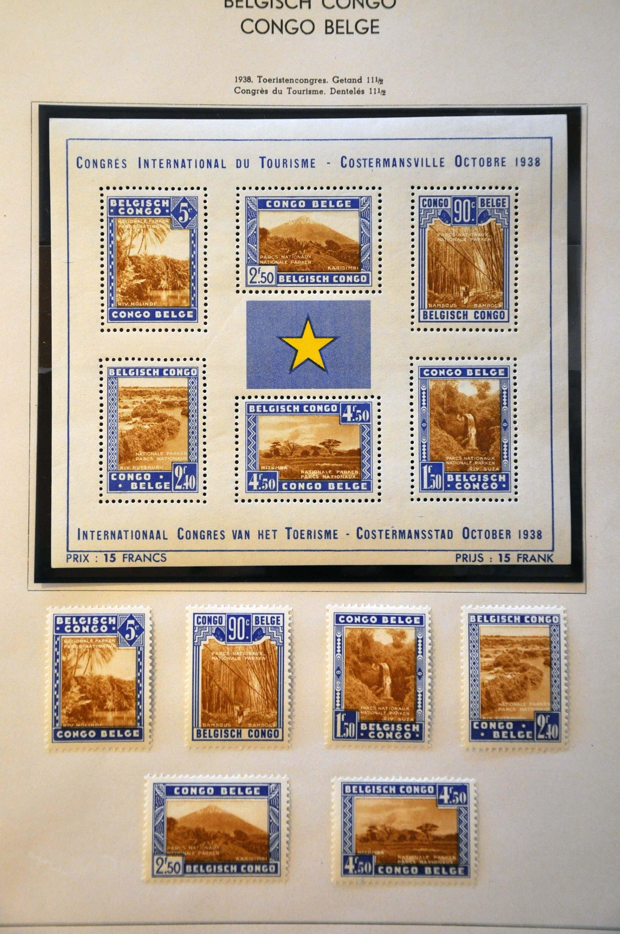 Lot 594 - Belgium and former colonies belgian congo -  Corinphila Veilingen Auction 245-246 Day 2 - Foreign countries - Collections and lots, Foreign countries - Boxes and literature