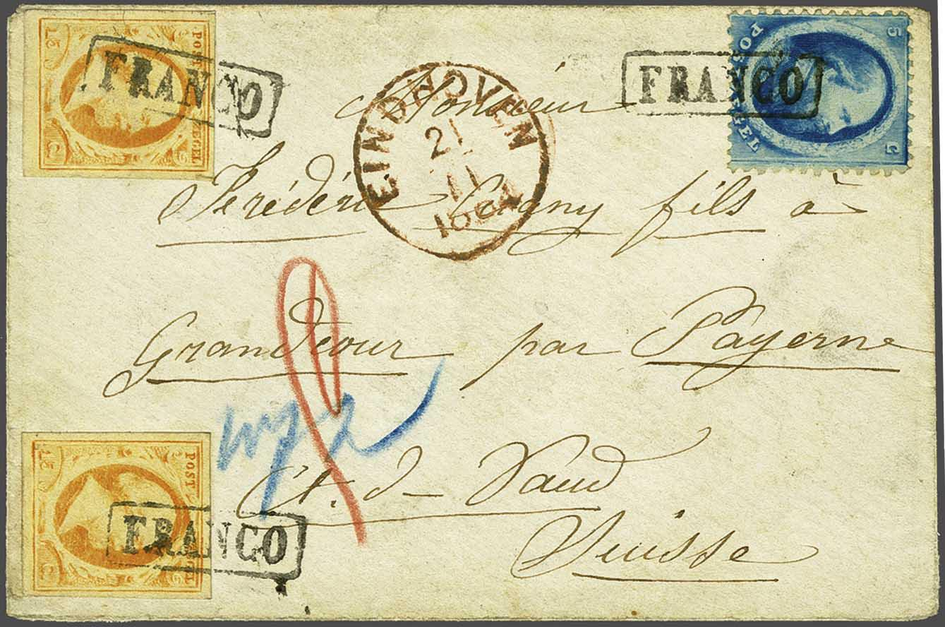 Lot 1721 - Netherlands and former colonies NL 1852 King William III -  Corinphila Veilingen Auction 245-246 Day 3 - Netherlands and former colonies - Single lots, Collections and lots, Boxes and literature