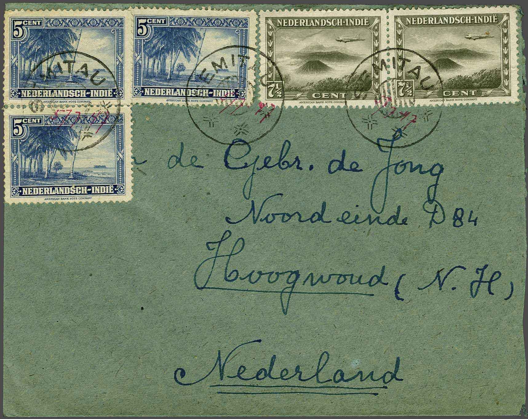 Lot 2075 - Netherlands and former colonies Netherlands Indies -  Corinphila Veilingen Auction 245-246 Day 3 - Netherlands and former colonies - Single lots, Collections and lots, Boxes and literature