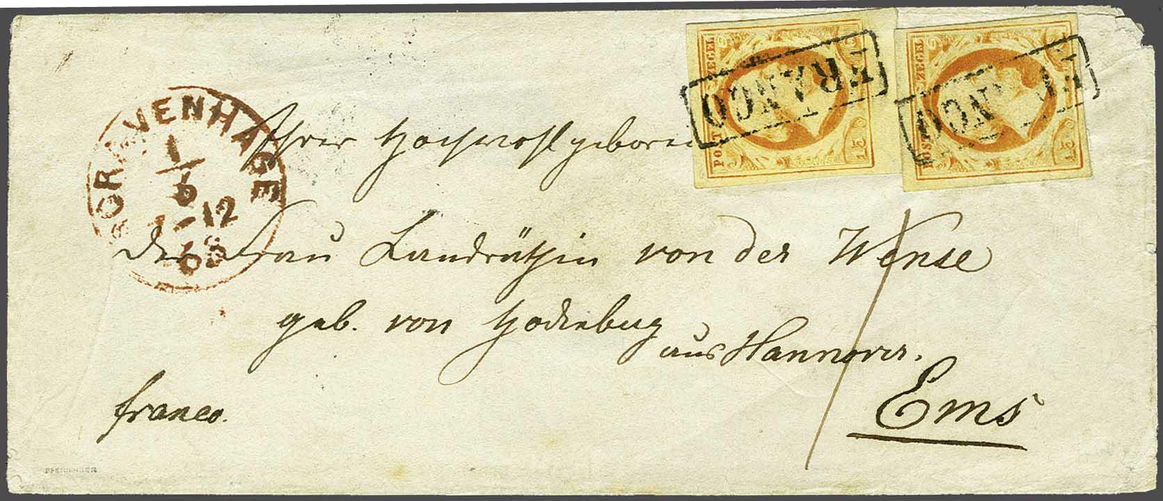 Lot 1720 - Netherlands and former colonies NL 1852 King William III -  Corinphila Veilingen Auction 245-246 Day 3 - Netherlands and former colonies - Single lots, Collections and lots, Boxes and literature