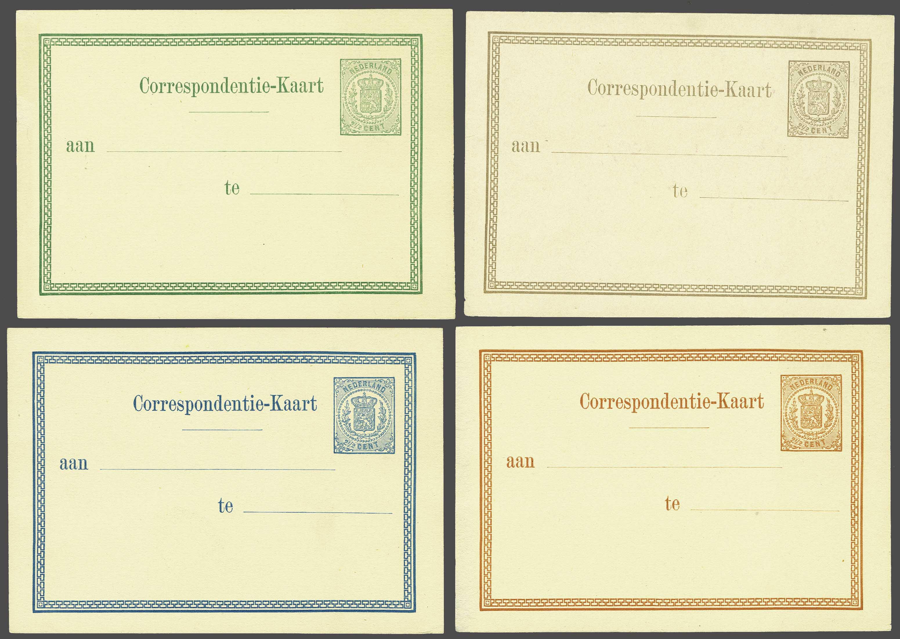 Lot 1827 - Netherlands and former colonies Netherlands Postal Stationery -  Corinphila Veilingen Auction 245-246 Day 3 - Netherlands and former colonies - Single lots, Collections and lots, Boxes and literature