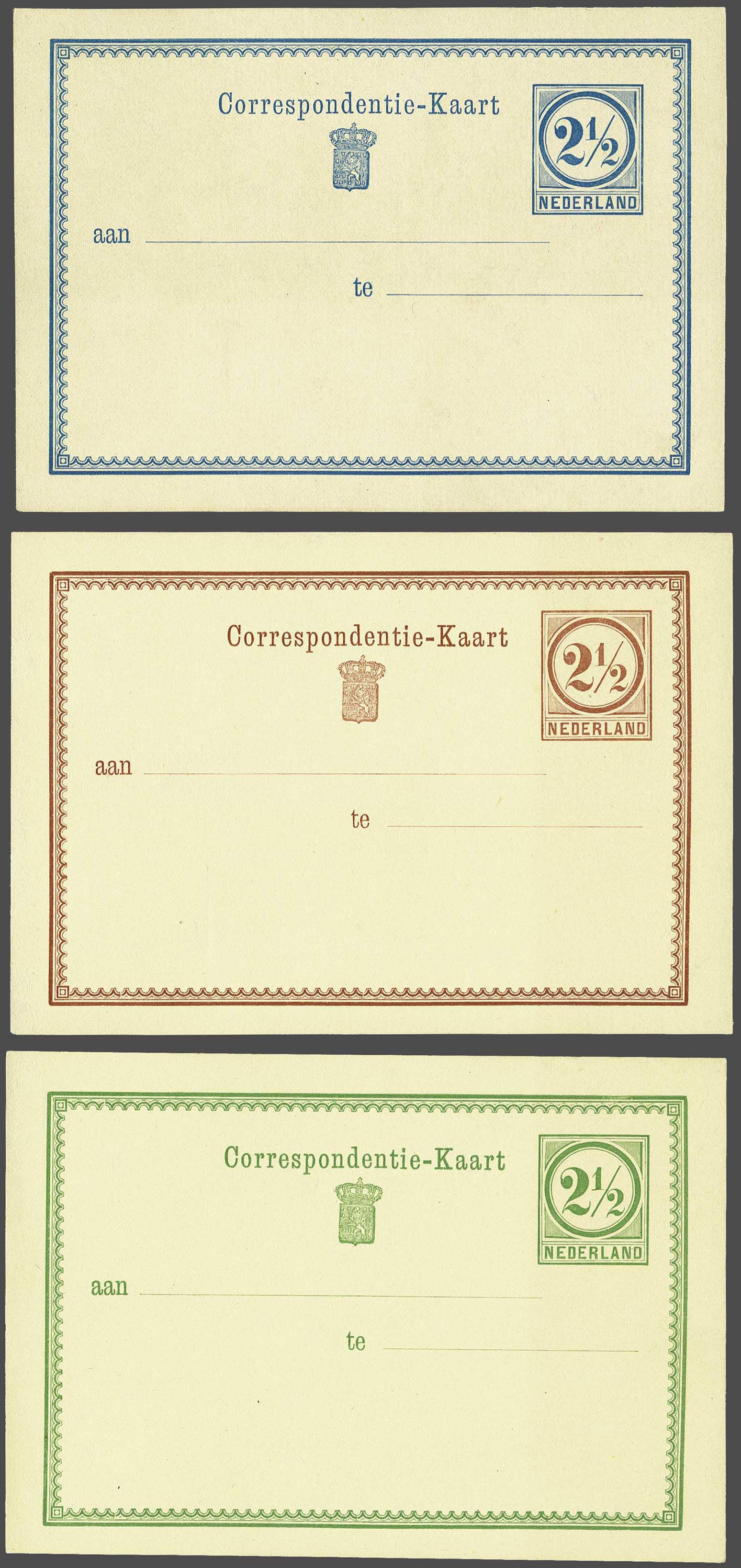 Lot 1825 - Netherlands and former colonies Netherlands Postal Stationery -  Corinphila Veilingen Auction 245-246 Day 3 - Netherlands and former colonies - Single lots, Collections and lots, Boxes and literature