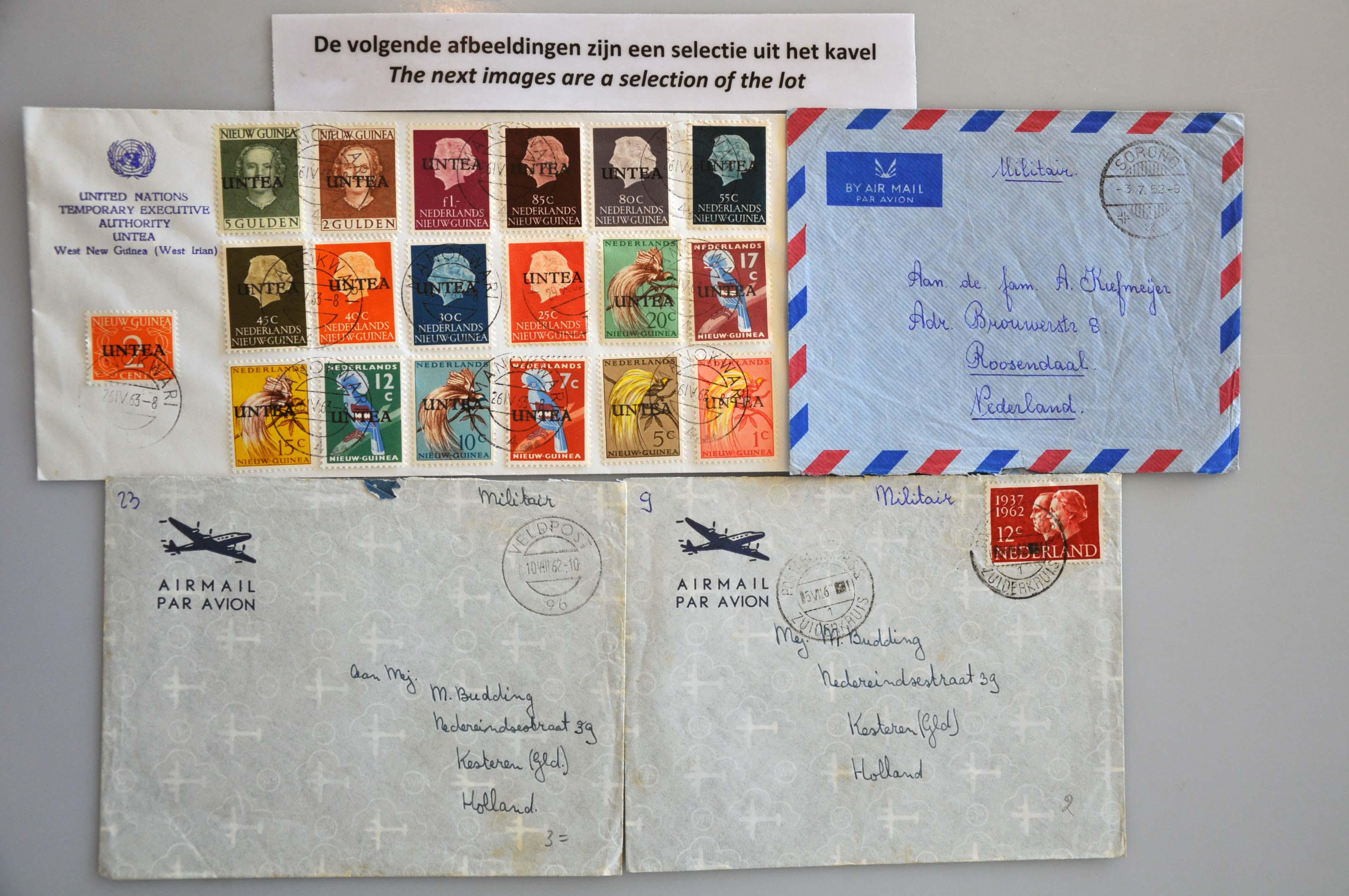 Lot 2815 - Netherlands and former colonies netherlands new guinea -  Corinphila Veilingen Auction 245-246 Day 3 - Netherlands and former colonies - Single lots, Collections and lots, Boxes and literature