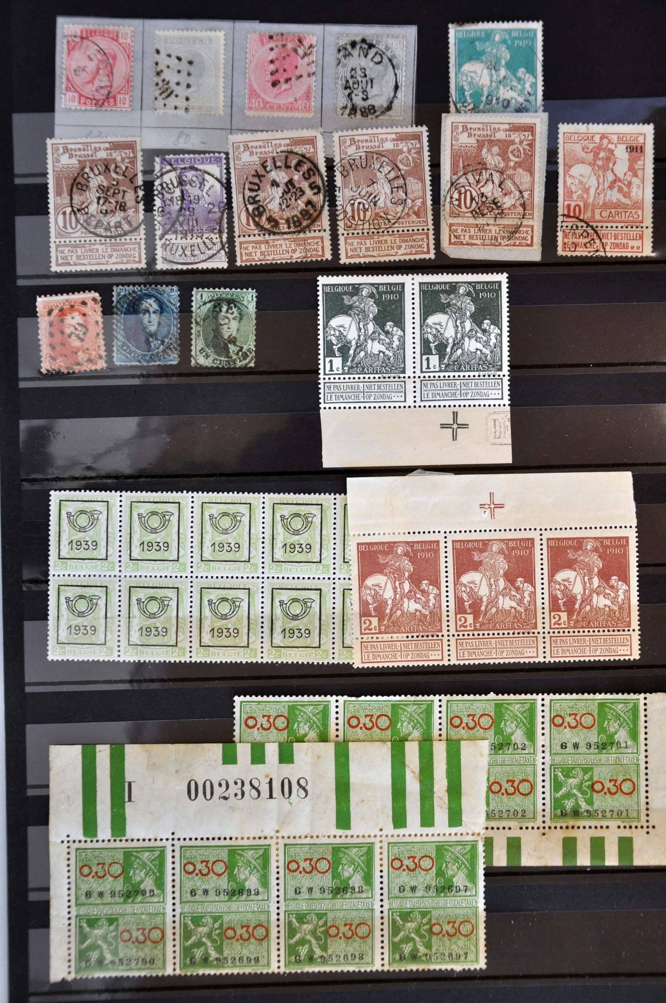 Lot 591 - Belgium and former colonies Belgium -  Corinphila Veilingen Auction 245-246 Day 2 - Foreign countries - Collections and lots, Foreign countries - Boxes and literature