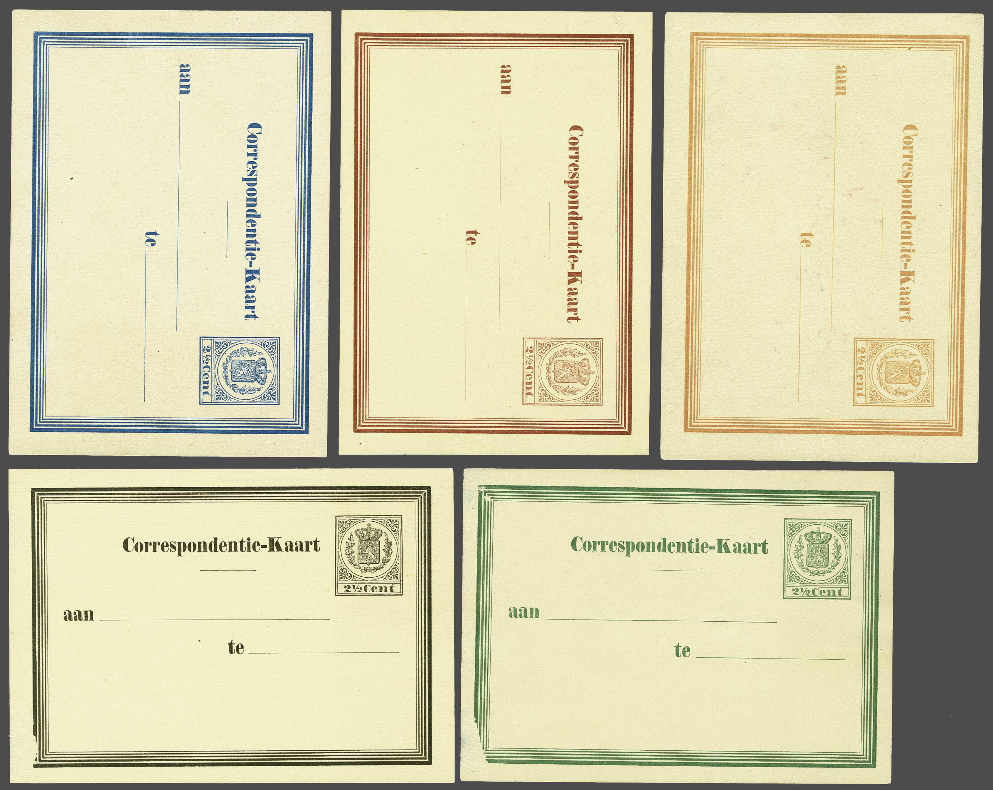 Lot 1826 - Netherlands and former colonies Netherlands Postal Stationery -  Corinphila Veilingen Auction 245-246 Day 3 - Netherlands and former colonies - Single lots, Collections and lots, Boxes and literature