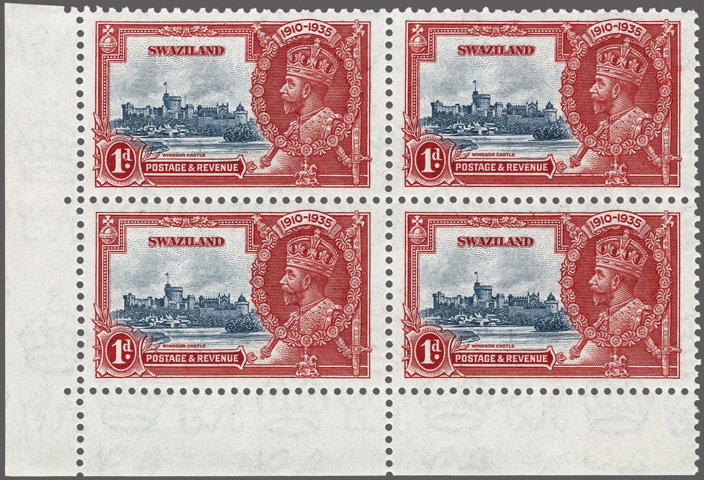 Lot 168 - Great Britain and former colonies swaziland -  Corinphila Veilingen Auction 250-253 - Day 1 - Foreign countries