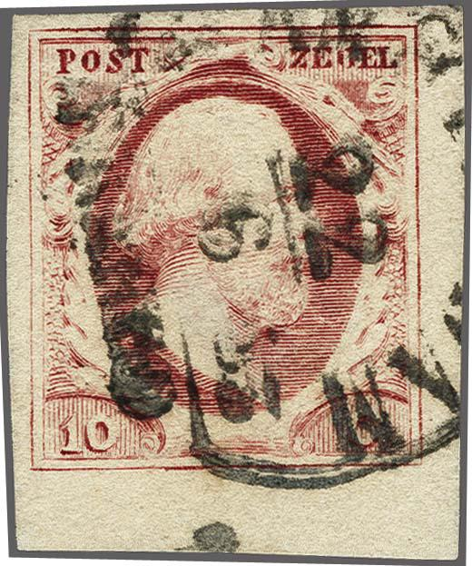 Lot 2471 - Netherlands and former colonies NL 1852 King William III -  Corinphila Veilingen Auction 250-253 - Day 3 - Netherlands and former colonies - Single lots & Picture postcards