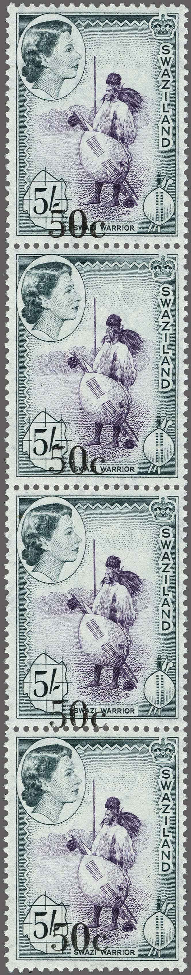 Lot 184 - Great Britain and former colonies swaziland -  Corinphila Veilingen Auction 250-253 - Day 1 - Foreign countries
