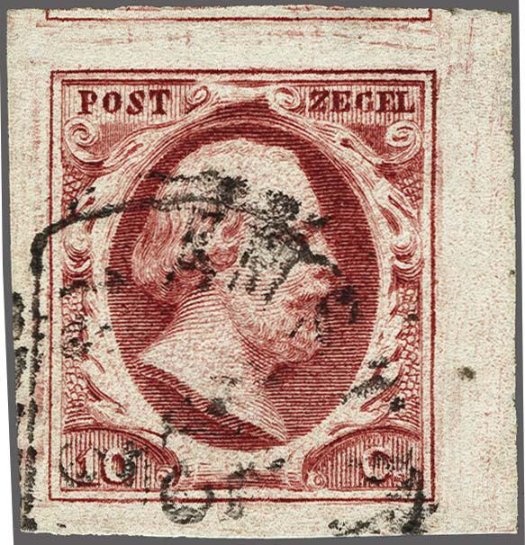 Lot 2472 - Netherlands and former colonies NL 1852 King William III -  Corinphila Veilingen Auction 250-253 - Day 3 - Netherlands and former colonies - Single lots & Picture postcards