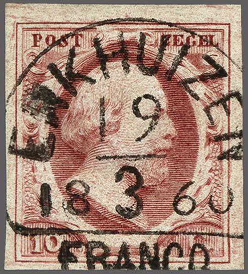 Lot 2495 - Netherlands and former colonies NL Semi-circular Cancellation -  Corinphila Veilingen Auction 250-253 - Day 3 - Netherlands and former colonies - Single lots & Picture postcards