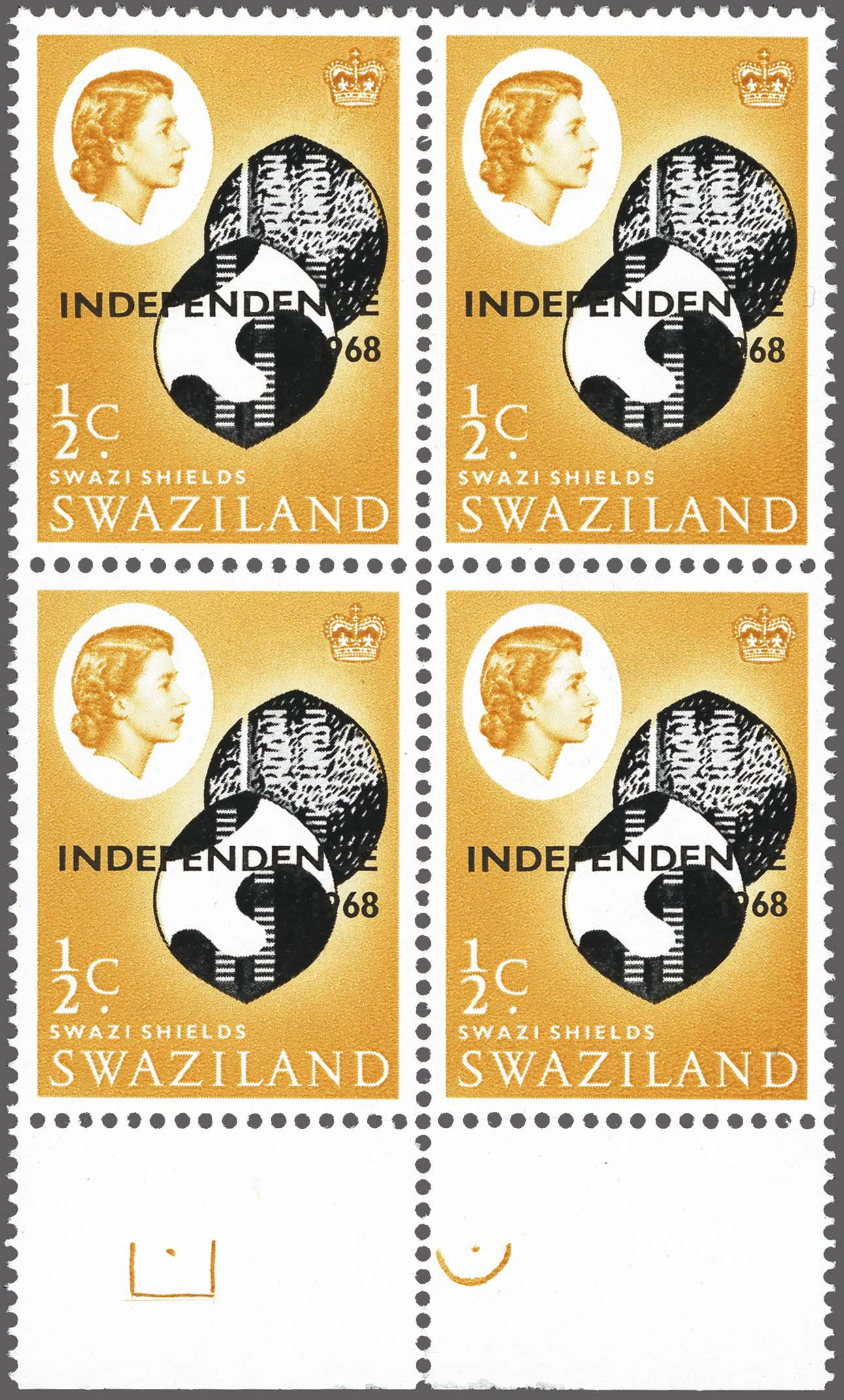 Lot 194 - Great Britain and former colonies swaziland -  Corinphila Veilingen Auction 250-253 - Day 1 - Foreign countries