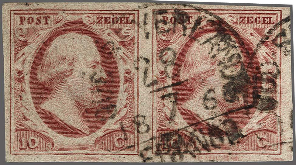 Lot 2519 - Netherlands and former colonies NL Semi-circular Cancellation -  Corinphila Veilingen Auction 250-253 - Day 3 - Netherlands and former colonies - Single lots & Picture postcards
