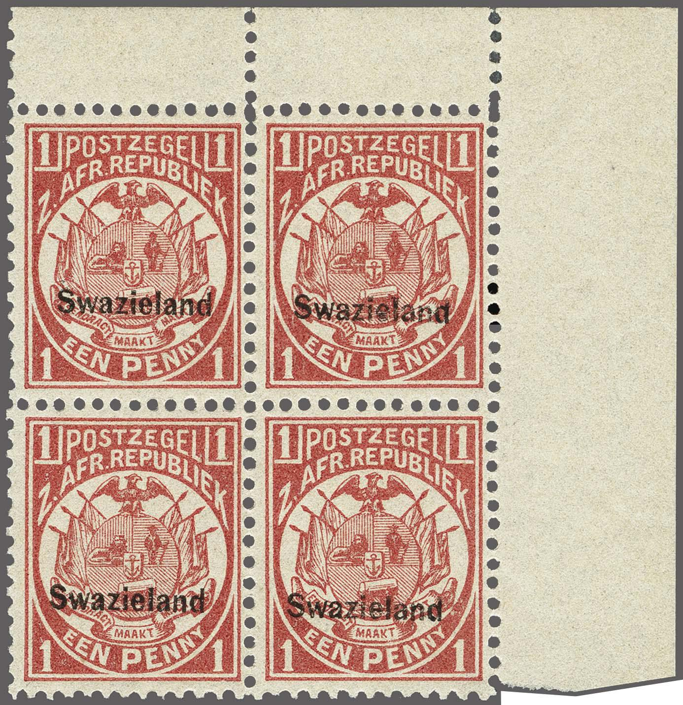Lot 147 - Great Britain and former colonies swaziland -  Corinphila Veilingen Auction 250-253 - Day 1 - Foreign countries