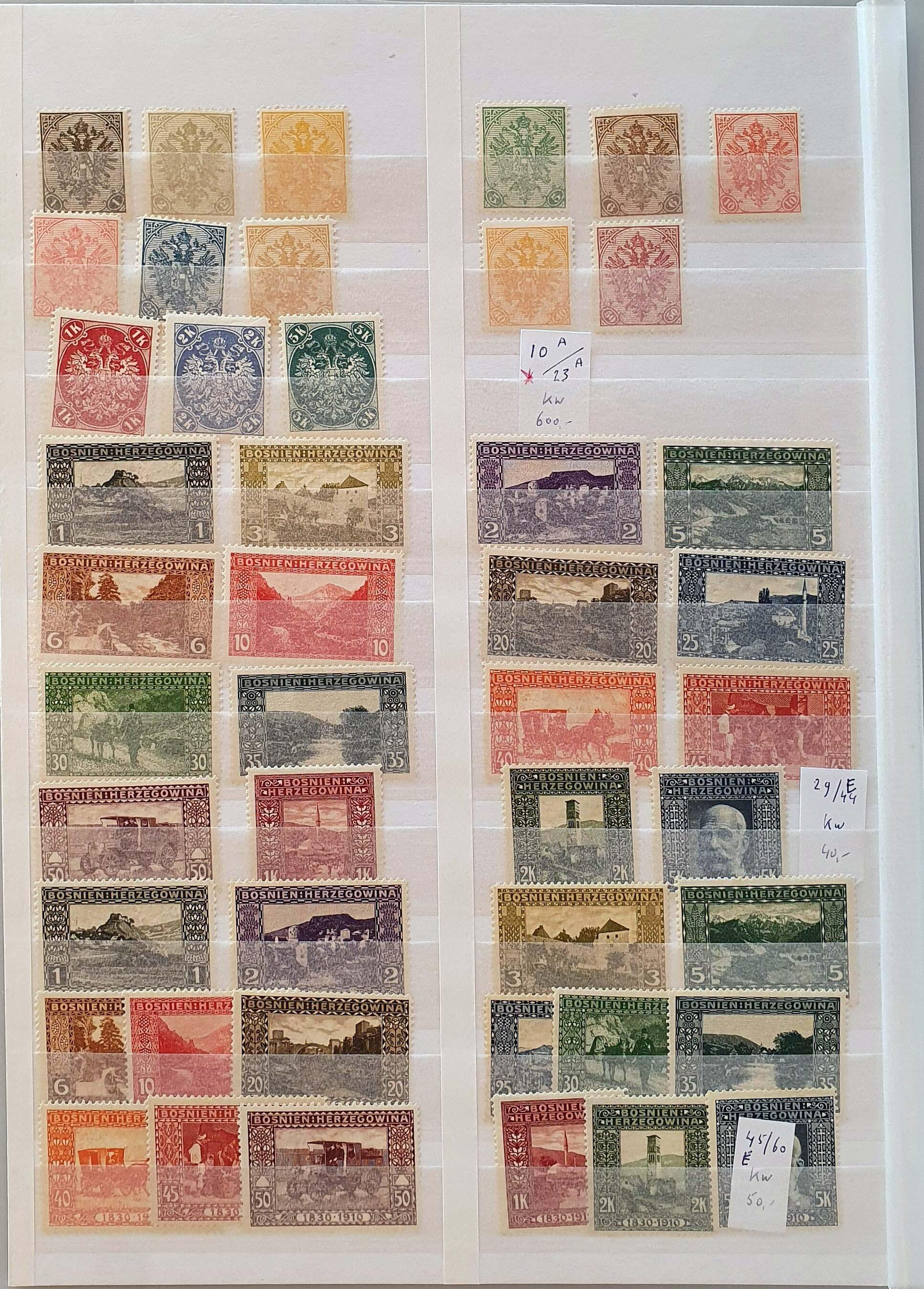 Lot 403 - Austria and former territories Bosnia and Herzegovina (Austrian) -  Corinphila Veilingen Auction 250-253 - Day 1 - Foreign countries