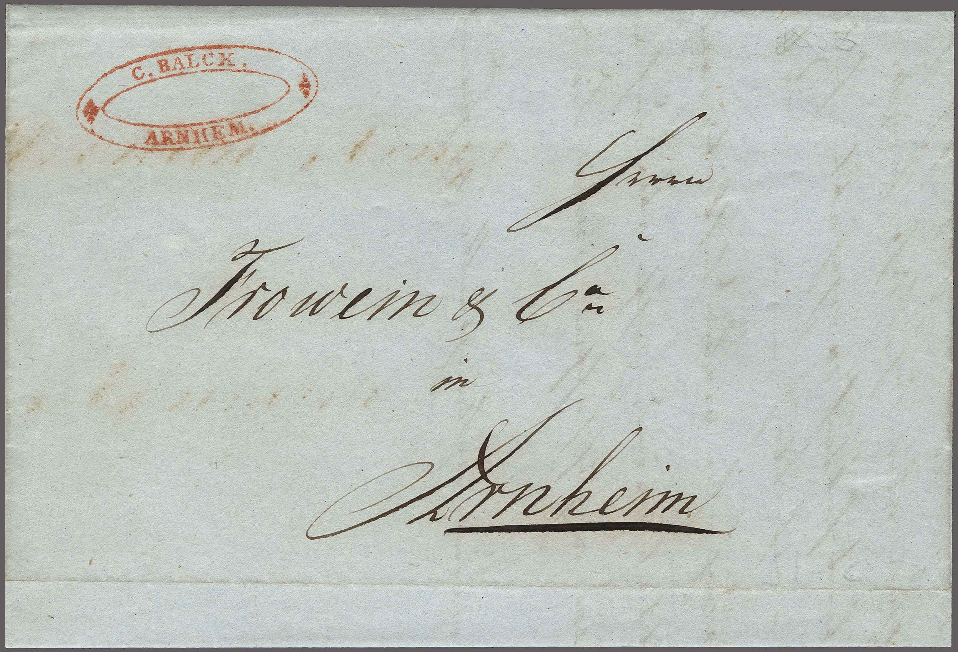 Lot 2429 - Netherlands and former colonies Netherlands -  Corinphila Veilingen Auction 250-253 - Day 3 - Netherlands and former colonies - Single lots & Picture postcards