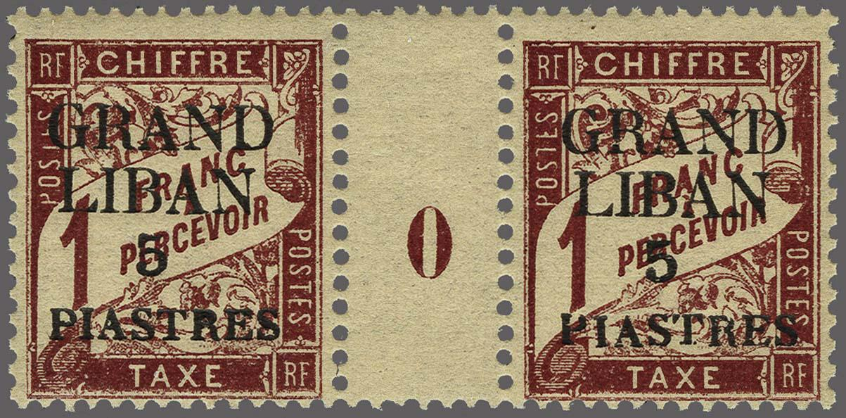 Lot 114 - France and former colonies Lebanon -  Corinphila Veilingen Auction 250-253 - Day 1 - Foreign countries