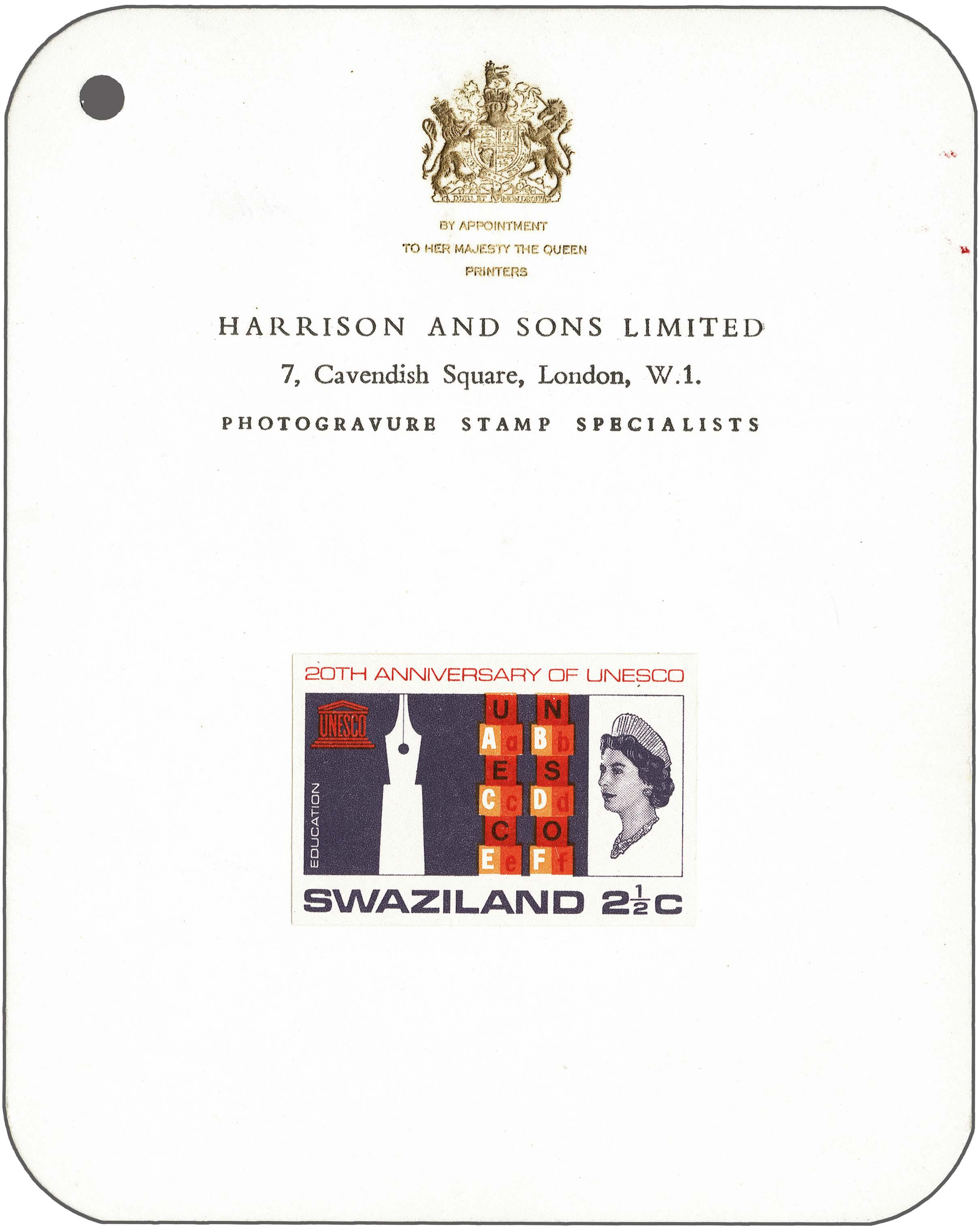 Lot 189 - Great Britain and former colonies swaziland -  Corinphila Veilingen Auction 250-253 - Day 1 - Foreign countries