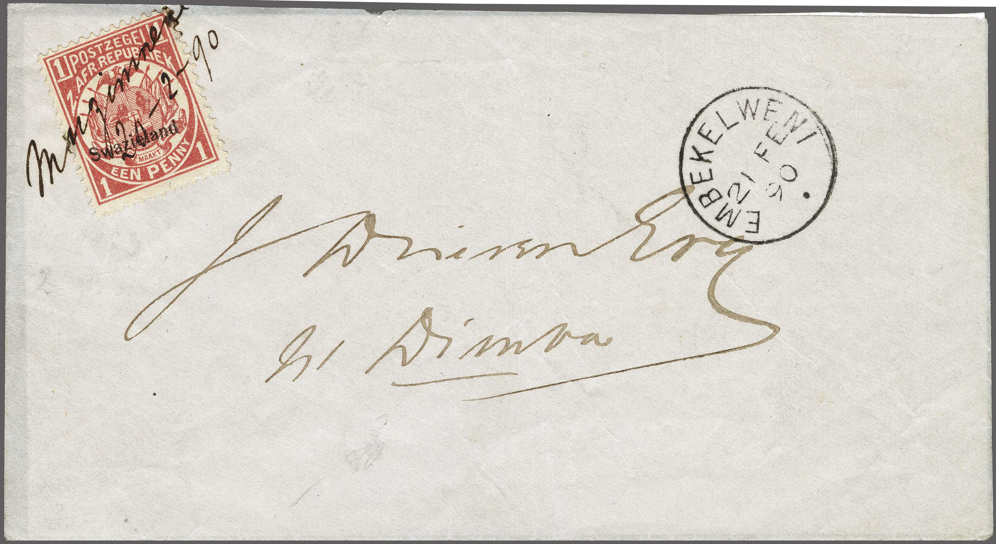 Lot 148 - Great Britain and former colonies swaziland -  Corinphila Veilingen Auction 250-253 - Day 1 - Foreign countries