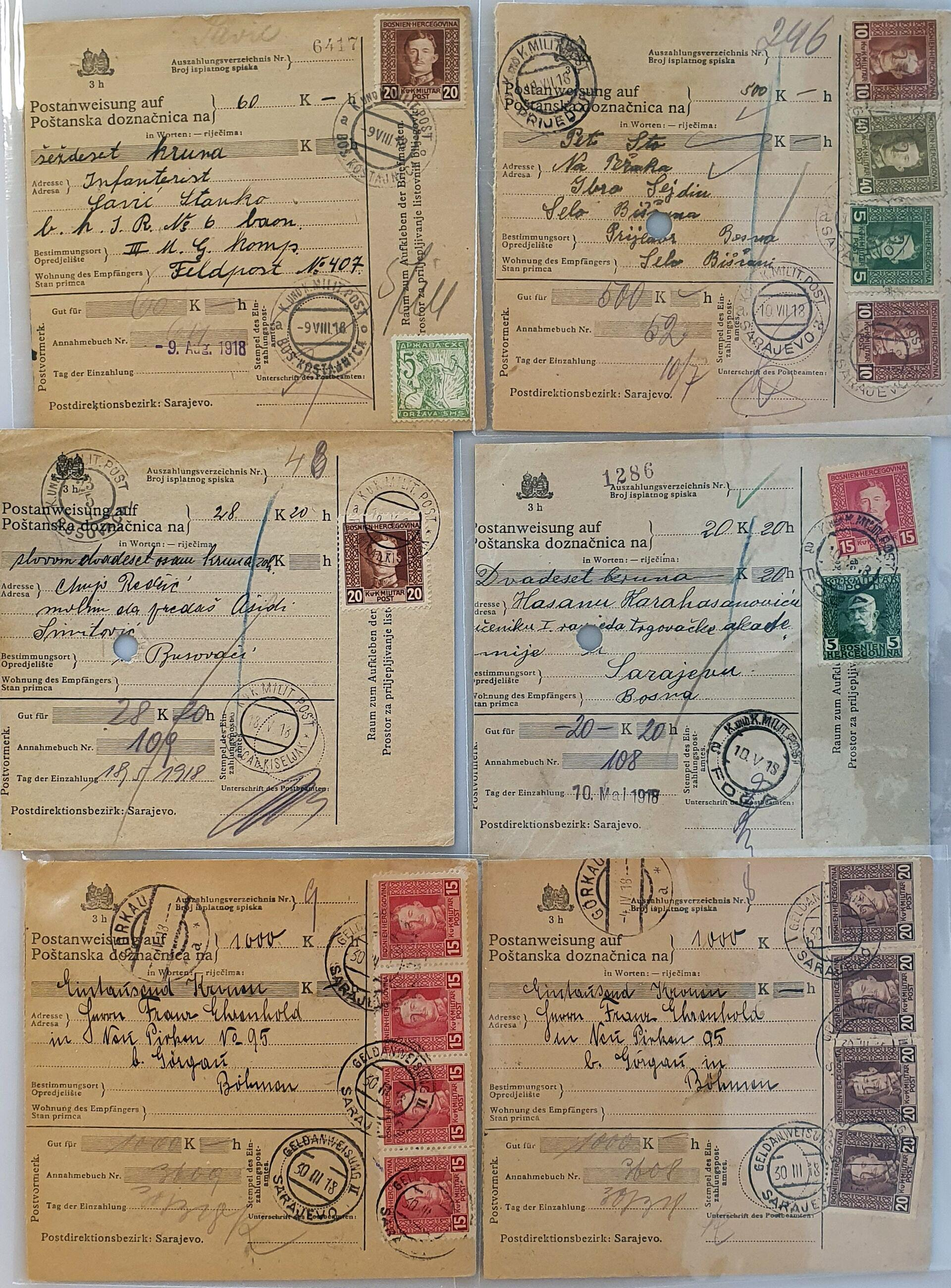 Lot 587 - Austria and former territories Bosnia and Herzegovina (Austrian) -  Corinphila Veilingen Auction 250-253 - Day 1 - Foreign countries