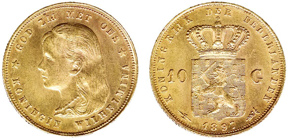 Lot 1406 - Dutch Coins Kingdom of the Netherlands -  Corinphila Veilingen Auction 250-253 - Day 2 - Coins, medals, Netherlands and former colonies